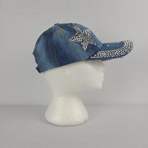 Magid Hats Rhinestone Denim Baseball Hat